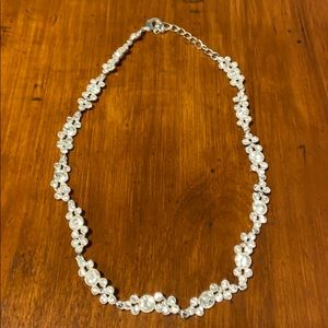 Macy's evening gown necklace, jeweled, sparkling